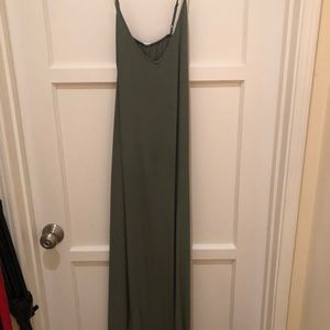V-Neck Maxi Shift Dress